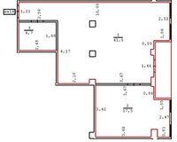 2 комнатная квартира 59 кв. м