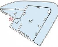 1 комнатная квартира 130 кв. м